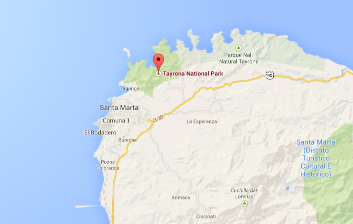 map tayrona