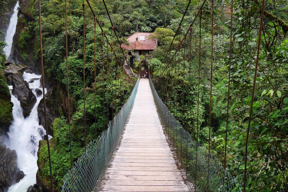 waterfall banos ecuador
